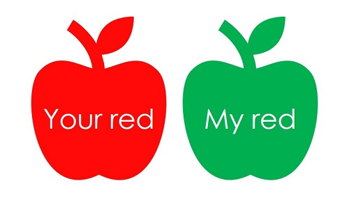 My red is your green.