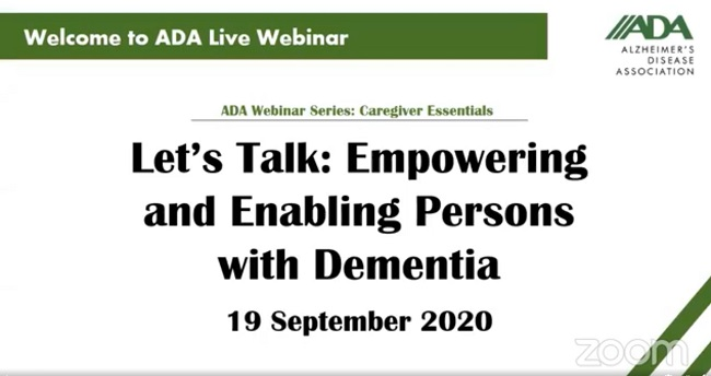 Empowering and Enabling Persons with Dementia by ADA